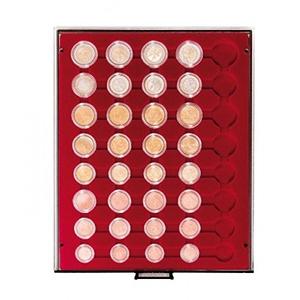 Münzbox RAUCHGLAS für 5 Euro-Kursmünzensätze in LINDNER Münzkapseln