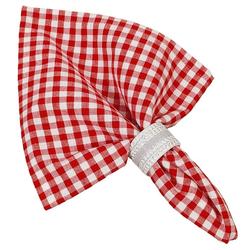 Stoffserviette, Textil Stoff Serviette rot kariert, matches21 HOME & HOBBY rot