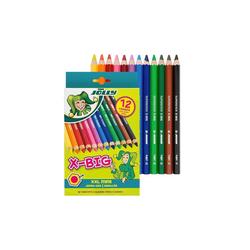 JOLLY Buntstift X-BIG Buntstifte, extra dick - 12er Pack, (12-tlg), bestens geeignet für Malanfänger