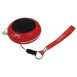 LogiLink Portabler Aktivlautsprecher mit Akku rot
