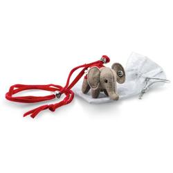 Steiff 605161 Halskette Elefäntle, Wollfilz, 6 cm, grau