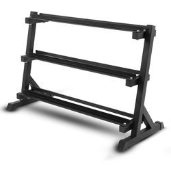 ISE Kurzhantelstange Hantelständer für Kurzhanteln, 3 Stufen für Max. 200kg, 100% Lagerregal für Gewichte Kurzhanteln Gewichtsstangen, SY-RK1041