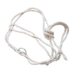 Kuh Halfter »Sisal« Strickhalfter mit Ring · einfach