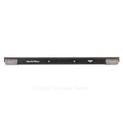 UNGER ErgoTec® NINJA Aluminium Schiene, Komplett mit Soft-Gummi und SmartClip Endkappen, Breite: 20 cm