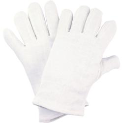 NITRAS Baumwoll-Trikot-Handschuhe, Hochwertige Schutzhandschuhe ideal für Handwerker, 1 Paar, Größe: 10