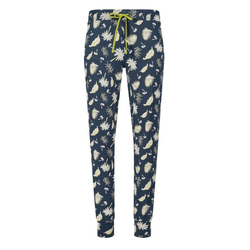 Skiny Pyjamahose Skiny Damen Pyjama Hose mit Palmen 40