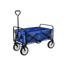 tectake Bollerwagen Faltbarer Bollerwagen blau
