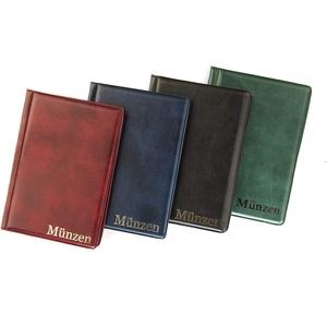 MC.Sammler Münzenalbum Münzalbum Taschenalbum für 96 Stück 2 Euro Münzen (Blau)