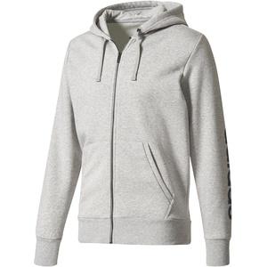 adidas Herren Essentials Full Zip Hoody, Medium Grey Heather/Collegiate Navy, S