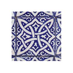 Casa Moro Fliesenaufkleber Marokkanische handbemalte Keramikfliese Fadwa 10 x 10 cm Retro Vintage Bunte Fliesen Wandfliese für schöne Küche Dusche Badezimmer, FL7160, Handmade