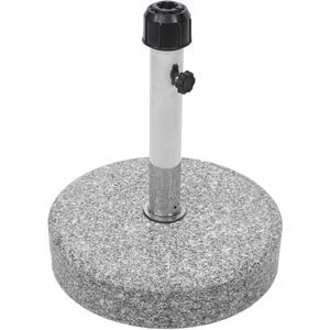 Mendler Sonnenschirmständer HWC-F92, Schirmständer Schirmhalter, Granit - 24kg rund grau