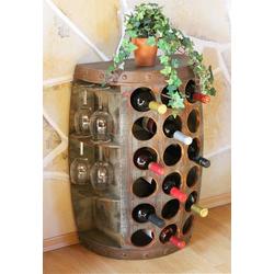 DanDiBo Weinregal Weinregal Holz Weinfass 1486 Beistelltisch Schrank Fass aus Holz 72cm Weinbar Bar