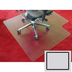 Bürostuhlunterlage für teppiche - polycarbonat, quadratisch