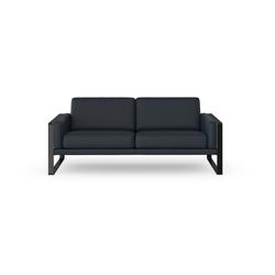 machalke® 2,5-Sitzer frame, Ledersofa mit Kufe in Schwarz blau