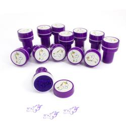 12 Kinder Einhorn Stempel Mädchen Stempelset selbstfärbend - lila