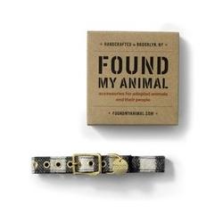 FOUND MY ANIMAL Hundehalsband - L - Schwarz