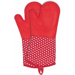 WENKO Topfhandschuhe, aus Silikon rot Topflappen und Topfhandschuh Kochen Backen Haushaltswaren Topfhandschuhe