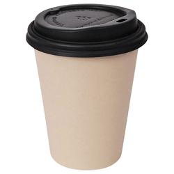 Kaffeebecher Heißgetränke Coffee to go mit Deckel aus Bambus 300 ml, 100 Stk.