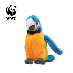 WWF Plüschfigur Plüschtier Gelbbrust Ara Papagei (mit Sound, 14cm)