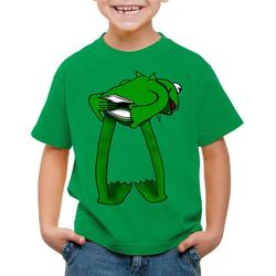 style3 Print-Shirt Kinder T-Shirt Kermit Frosch handpuppe 128