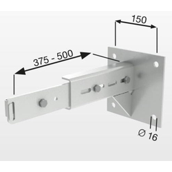 Günzburger Wandhalter Vollwärmeschutz Stahl verzinkt Wandabstand Verstellbereich 375-500mm