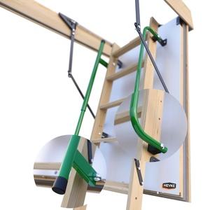 Gedämmte HEYKE W1 Bodentreppe mit Zwei Handläufe Spart Energiekosten   U-Wert 0,36 W/M2*K   Luftdichtheitsklasse 4   2 Dichtungen   Bequeme Assistenz-Federmechanismus   Möbelqualität