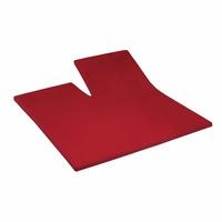 Primera Spannbettlaken Elasthan-Feinjersey Split Topper, Primera, in Premium Qualität rot