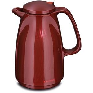 ROTPUNKT Isolierkanne 225 BELLA 0,5 l | Zweifunktions-Drehverschluss | BPA Frei - gesundes Trinken | Made in Germany | Warm + Kalthaltung | Glaseinsatz | shiny burgund
