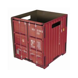 "WERKHAUS® Papierkorb Werkhaus - Papierkorb ""Container"" Rot CO1032 Mülleimer Abfalleimer Papierkörbe"
