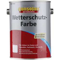 CONSOLAN Wetterschutzfarbe Profi Holzschutz, grau, 2,5 Liter