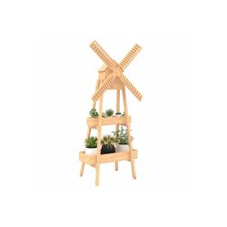 Outsunny Pflanzentreppe Pflanzenregal in Windmühlen Optik