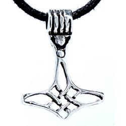 Kiss of Leather Kettenanhänger Thorshammer Anhänger klein 925 Silber Thor Hammer Wikinger Mjölnir