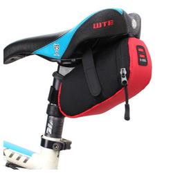 cofi1453 Fahrradtasche B-Soul Fahrradtasche Gepäcktasche Gepäckträger Fahrrad Bike Radtasche Tasche unter dem Sattel 0,6L schwarz rot