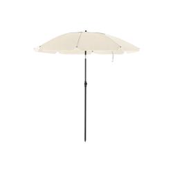 SONGMICS Sonnenschirm GPU60BR GPU60WTV1, Gartenschirm für Strand, Ø 160 cm, UPF 50+, Schirmrippen aus Glasfaser natur