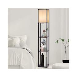COSTWAY Stehlampe Stehleuchte Stehlampe schwarz 26 cm x 26 cm x 160 cm