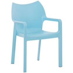 CLP Gartenstuhl Diva Kunststoff-Gartenstuhl mit Armlehnen blau
