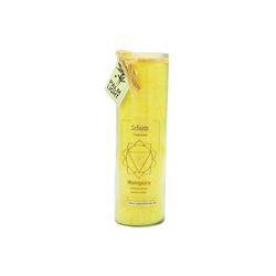 yogabox Duftkerze Chakra 3 Manipura gelb