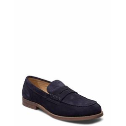 Tommy Hilfiger Hilfiger Suede Loafer Loafers Flache Schuhe Blau TOMMY HILFIGER Blau 42,43,45,41,44
