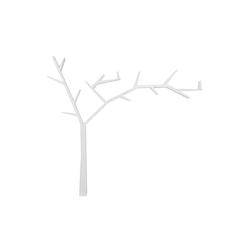 Półka Paprot prawa biała