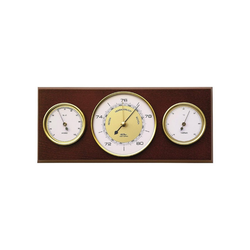 Fischer Barometer Wetterstation 60er Stil Innenwetterstation
