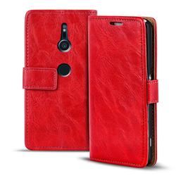 Retro Tasche für Sony Xperia XZ2 Hülle Wallet Case Handyhülle Vintage Slim Cover