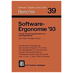 Software-Ergonomie '93 - Buch