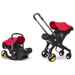 Doona+ Babyschale Travelsystem 2-in-1 (7 Farben) Flame Red