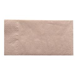 NATURESTAR Servietten, 2-lagig, Mundtuch aus 100% Recycling-Papier in Naturbraun, 1 Karton = 8 x 250 Stück, 33 x 33 cm, 1/8 Falz
