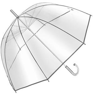 Regenschirm mit der Form von einem Glockenschirm Transparent Durchmesser ca 101cm mit einem schönen Griff