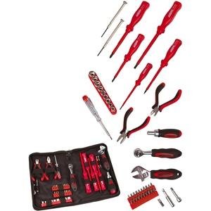 Brüder Mannesmann Werkzeuge Werkzeugset Elektronik Tool Kit, 45-tlg., für Elektronik-Arbeiten rot Werkzeugkoffer Werkzeug Maschinen