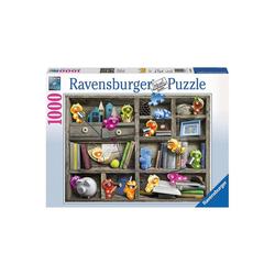 Ravensburger Puzzle Puzzle 1000 Teile, 70x50 cm, Gelini im Bücherregal, Puzzleteile