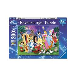 Ravensburger Puzzle Puzzle, 200 Teile XXL, 49x36 cm, Disney Lieblinge, Puzzleteile
