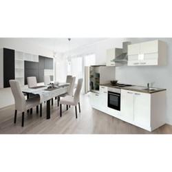 Respekta Küchenzeile KB270WW 270 cm Weiß