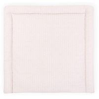 KraftKids Wickelauflage weiße Feder Muster auf Rosa, extra Weich (500 g/qm), mit antiallergenem Vlies gefüllt 85 cm x 75 cm